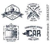 car repair and racing emblems.... | Shutterstock .eps vector #318633257
