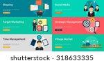 marketing   management | Shutterstock .eps vector #318633335