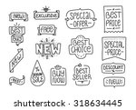 Collection Of Hand Drawn Label...