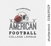 american football badges logos... | Shutterstock .eps vector #318639329