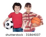 two adorable children with... | Shutterstock . vector #31864037