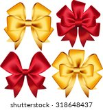 set of colorful gift bows.... | Shutterstock .eps vector #318648437