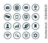 social media icons universal...   Shutterstock . vector #318648635