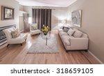 interior design of luxury... | Shutterstock . vector #318659105