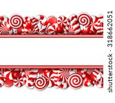 sweet banner with red and white ... | Shutterstock .eps vector #318662051