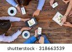 business team interaction  top... | Shutterstock . vector #318663539