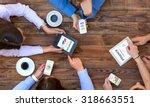 business team interaction  top... | Shutterstock . vector #318663551