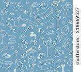 hand drawn plumbing seamless... | Shutterstock . vector #318669527