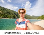 guy gets a selfie during his... | Shutterstock . vector #318670961