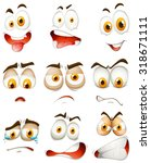 many type of facial expressions ... | Shutterstock .eps vector #318671111