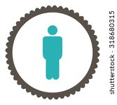 man round stamp icon. this flat ... | Shutterstock .eps vector #318680315
