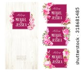 set of marriage invitations.... | Shutterstock .eps vector #318681485