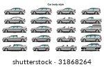 car body style.   Shutterstock .eps vector #31868264