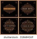 vintage logo templates  hotel ... | Shutterstock .eps vector #318684269