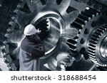 engineer  worker pointing at... | Shutterstock . vector #318688454