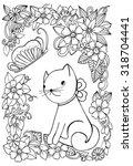 Vector Doodle Floral Frame...