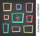 set of cartoon picture frames.... | Shutterstock .eps vector #318708035