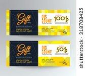gift voucher template. | Shutterstock .eps vector #318708425