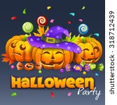 halloween party  | Shutterstock .eps vector #318712439