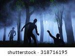 3d Render Of Zombies In Spooky...