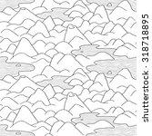 mountains pattern. vector... | Shutterstock .eps vector #318718895