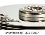 opened computer hard disk drive | Shutterstock . vector #31872014