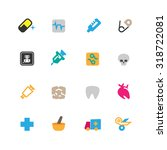 medical and hospital icons set... | Shutterstock .eps vector #318722081
