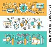 concept study of human medicine.... | Shutterstock .eps vector #318729431