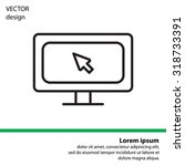 monitor  linear icon