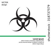 biohazard symbol vector sign... | Shutterstock .eps vector #318737579