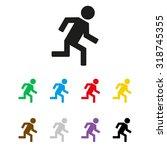 man running   vector icon | Shutterstock .eps vector #318745355