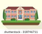 school and education. buildings ... | Shutterstock .eps vector #318746711