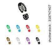 shoe print   vector icon | Shutterstock .eps vector #318747407
