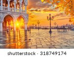 piazza san marco at sunrise ... | Shutterstock . vector #318749174