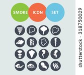 smoke icons for site | Shutterstock .eps vector #318750029