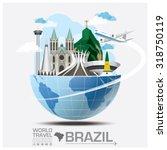 brazil landmark global travel... | Shutterstock .eps vector #318750119