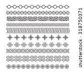 asian frame ornament  pattern... | Shutterstock .eps vector #318750371