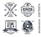 car repair and biker club... | Shutterstock .eps vector #318750374