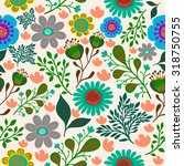 floral pattern in vector | Shutterstock .eps vector #318750755