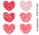 set of multicolored hearts to... | Shutterstock .eps vector #318751469