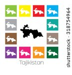 multicoloured map  of the... | Shutterstock . vector #318754964