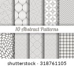 set of 10 abstract patterns.... | Shutterstock .eps vector #318761105