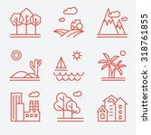 Landscape Icons  Thin Line...