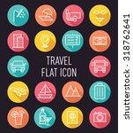 set of travel flat icon...