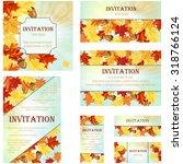 set of invitation cards in... | Shutterstock .eps vector #318766124