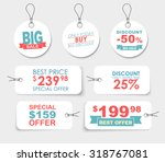 set of white labels  tags ... | Shutterstock .eps vector #318767081