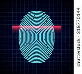 electronic fingerprint scan | Shutterstock .eps vector #318770144