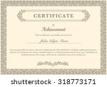 certificate of achievement with ... | Shutterstock .eps vector #318773171