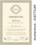 certificate of achievement with ... | Shutterstock .eps vector #318773189