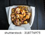 palmier biscuits   puff pastry... | Shutterstock . vector #318776975